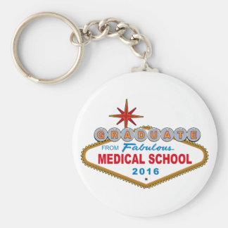Graduate From Fabulous Medical School 2016 (Vegas) Basic Round Button Key Ring