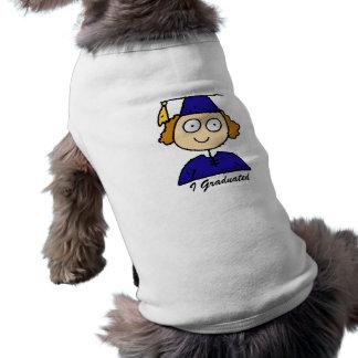 Graduate Girl Cute Blue Dog Clothes