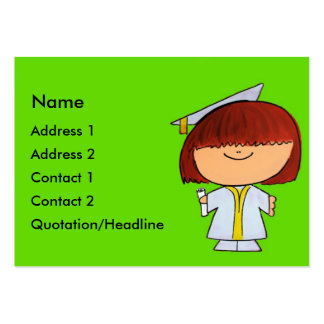 Graduate Girl Pack Of Chubby Business Cards