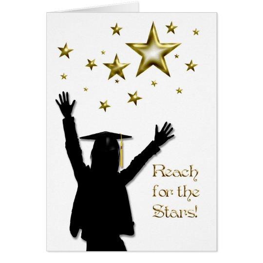 Graduate Girl Stars Card