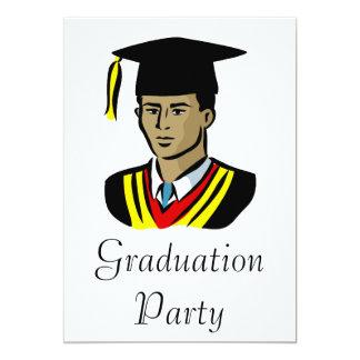 Graduate Guy 13 Cm X 18 Cm Invitation Card