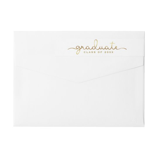 Graduate Hand Lettered Gold Script Wrap Wrap Around