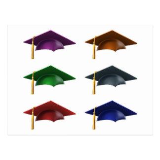 Graduate hats or caps postcard