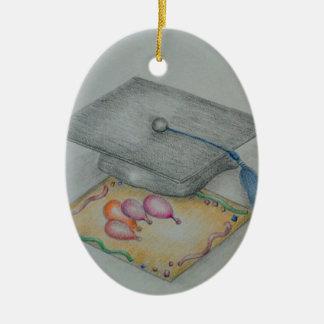 graduate invitation ceramic oval decoration