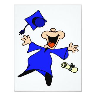 Graduate Jumping for Joy 11 Cm X 14 Cm Invitation Card