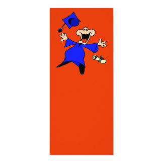 "Graduate Jumping for Joy 4"" X 9.25"" Invitation Card"