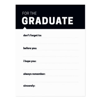 Graduate Keepsake | Advice Cards