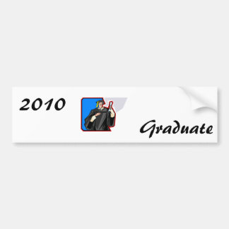 Graduate Man Car Bumper Sticker