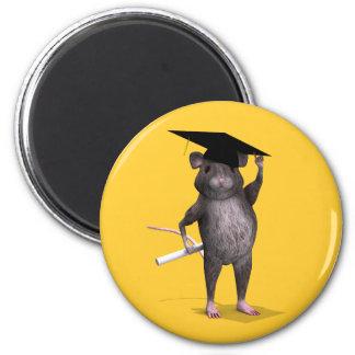 Graduate Mouse 6 Cm Round Magnet