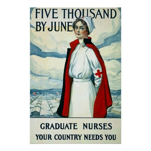 Graduate Nurses ~ Vintage WW1 Poster