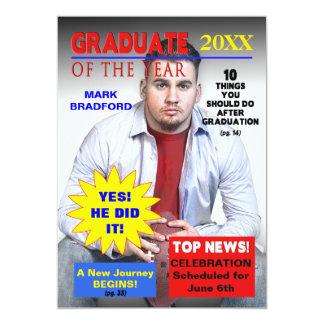 GRADUATE OF THE YEAR - MAGAZINE COVER/PHOTO 13 CM X 18 CM INVITATION CARD