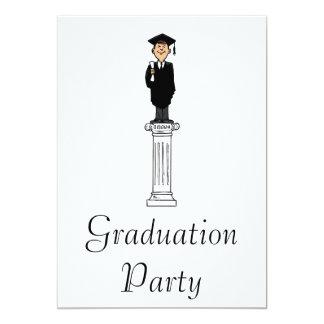 Graduate pedestal 13 cm x 18 cm invitation card