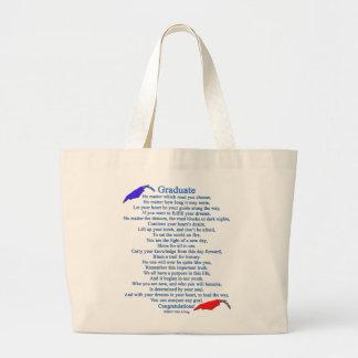 Graduate Poem Jumbo Tote Bag