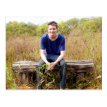 Graduate Portrait with Chalkboard Background Post Cards