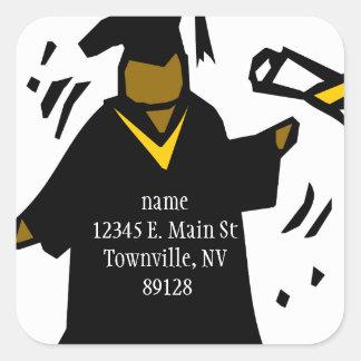 Graduate Receiving Diploma (1) Square Sticker