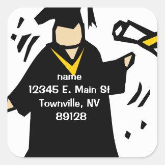 Graduate Receiving Diploma (2) Square Stickers