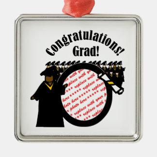 Graduate Receiving Diploma Photo Frame Christmas Ornament