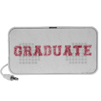 graduate, red text design for graduation t-shirt portable speaker
