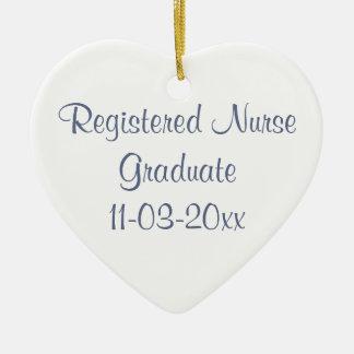 Graduate Registered Nurse Personalize Name Christmas Ornament