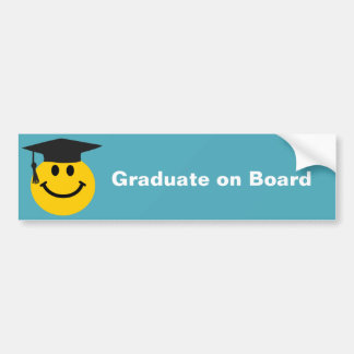 Graduate smiley face bumper sticker