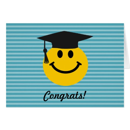 Graduate smiley face greeting card