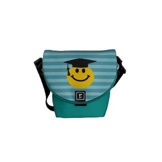 Graduate smiley face courier bags