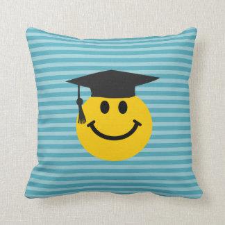 Graduate smiley face cushion