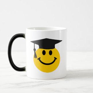 Graduate smiley face magic mug