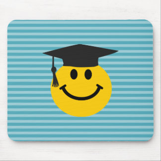 Graduate smiley face mouse pad