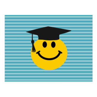 Graduate smiley face post card