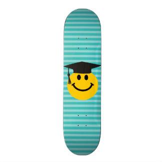Graduate smiley face custom skateboard