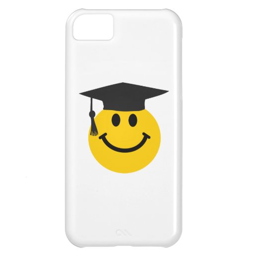Graduate Smiley face with graduation hat iPhone 5C Cover