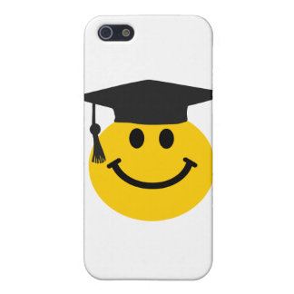 Graduate Smiley face with graduation hat Case For iPhone 5