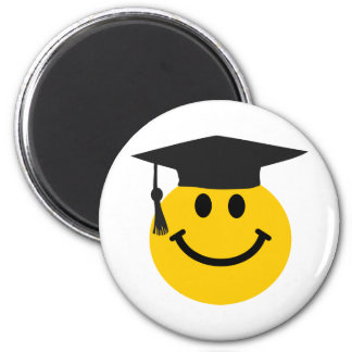Graduate Smiley face with graduation hat Magnet