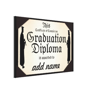 Graduate Standing Tall Diploma Stretched Canvas Print