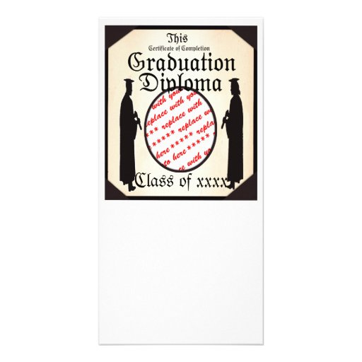 Graduate Standing Tall Diploma  Frame Photo Card