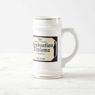 Graduate Standing Tall Diploma 18 Oz Beer Stein