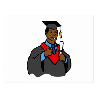 Graduate Thumbs Up Postcard