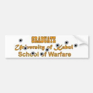 Graduate-University of Kabul-School of Warfare Bumper Sticker