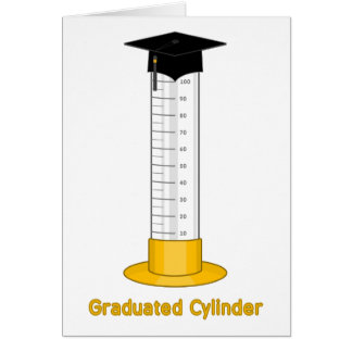 Graduated Cylinder - Greeting Card