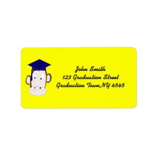 Graduated Monkey Label Template Address Label