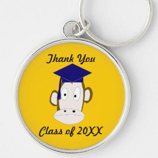 Graduated Monkey Thank You Keychain Template