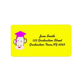 Graduated She-Monkey Label Template Address Label
