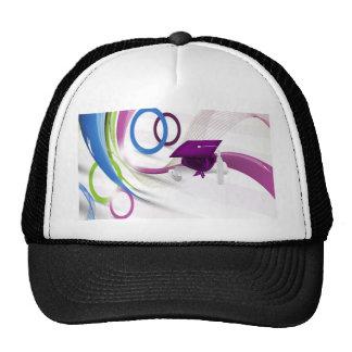Graduates, Congratulations, Colorful Waves & Circl Trucker Hats
