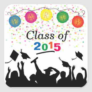 Graduating Class of 2015 Party Invitation Stickers