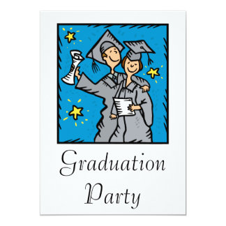 Graduating Couple 13 Cm X 18 Cm Invitation Card