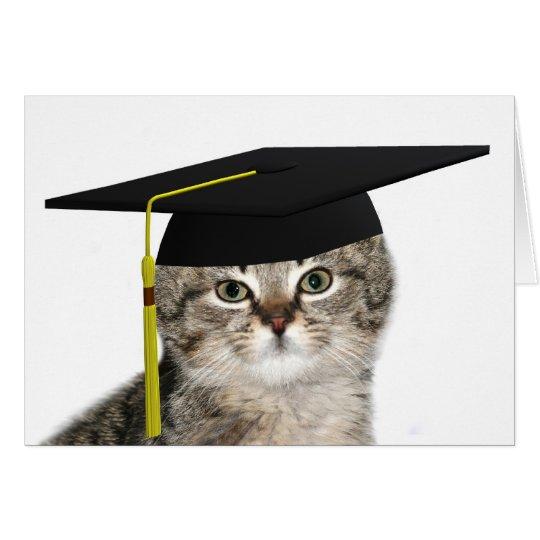 Graduating kitten card