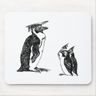 Graduating Penguins Tip Hats to Don Mouse Pad