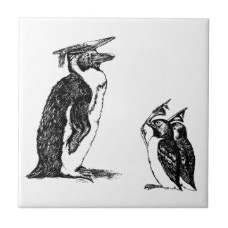 Graduating Penguins Tip Hats to Don Small Square Tile