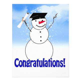 Graduating Snowman With Diploma 21.5 Cm X 28 Cm Flyer